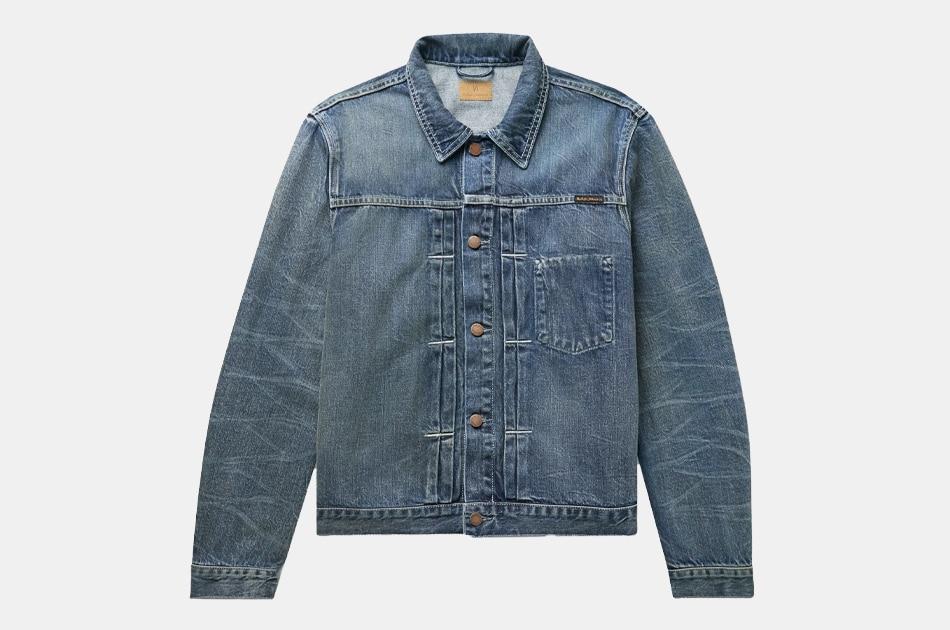 Nudie Jeans Vinny Pleated Organic Denim Jacket