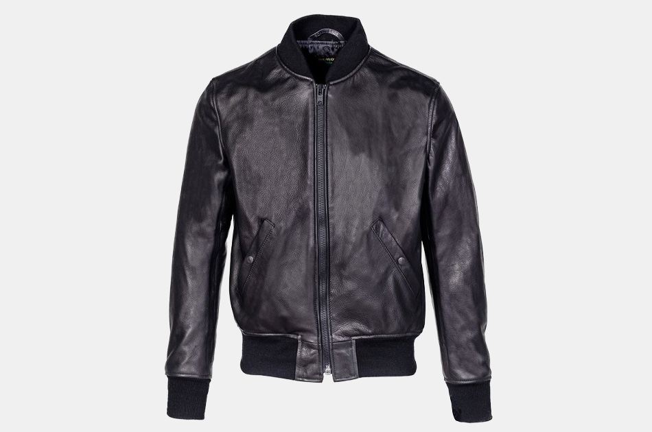 Schott Lightweight Leather MA-1 Bomber Jacket