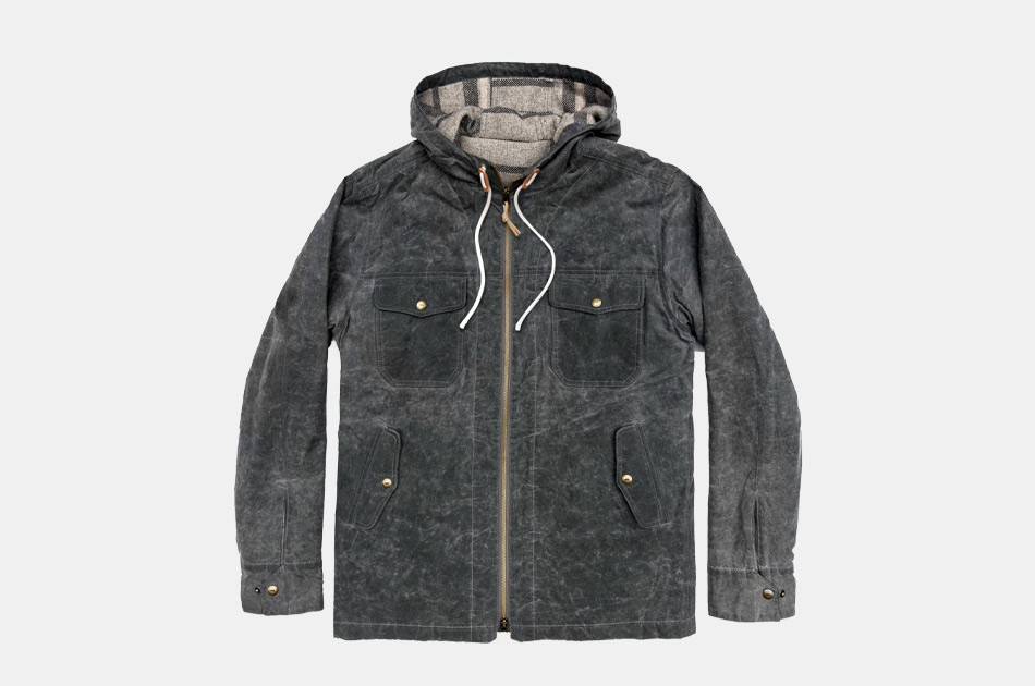 Taylor Stitch Winslow Parka in Slate Wax Canvas
