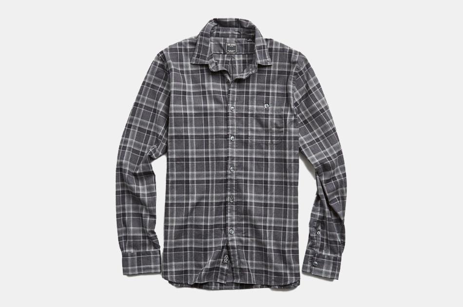 Thomas Mason Charcoal Plaid Flannel Shirt