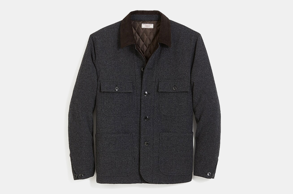 Wallace & Barnes Quilted Wool Chore Jacket