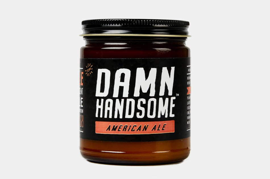 Damn Handsome Grooming American Ale Candle