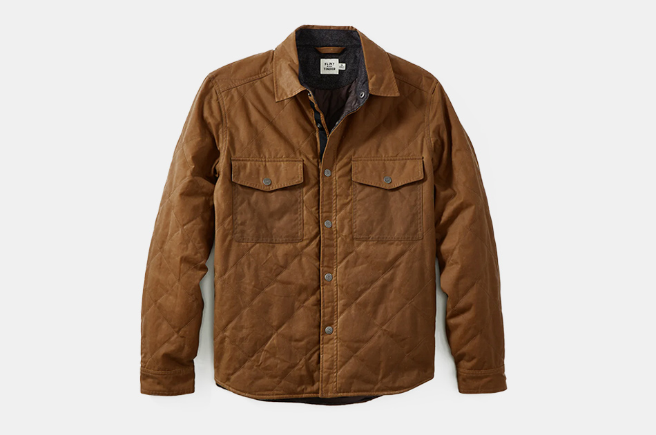 Flint and Tinder Quilted Waxed Shirt Jacket