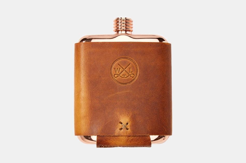 Whiskey Leatherworks Clark Fork Copper Flask
