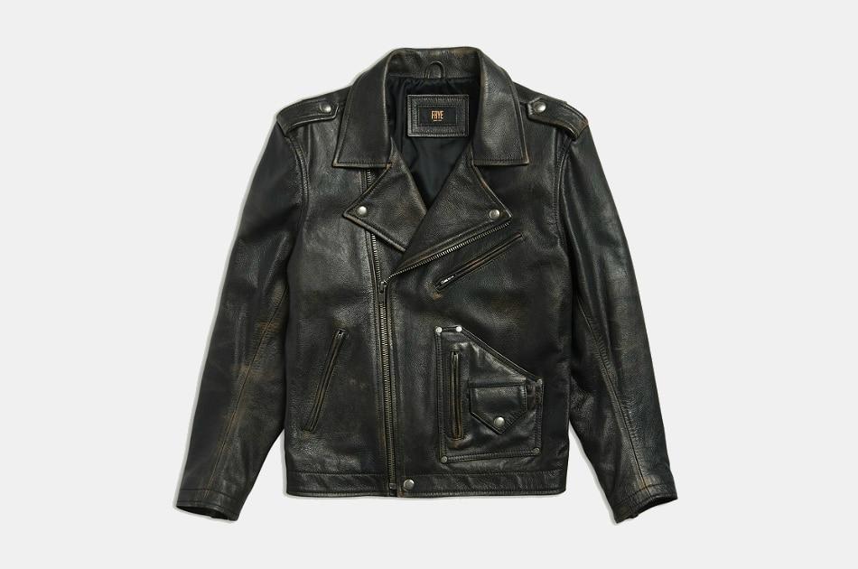 Frye Strabler Leather Moto Jacket
