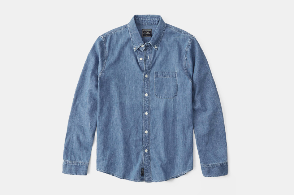 Abercrombie & Fitch One-Pocket Denim Shirt