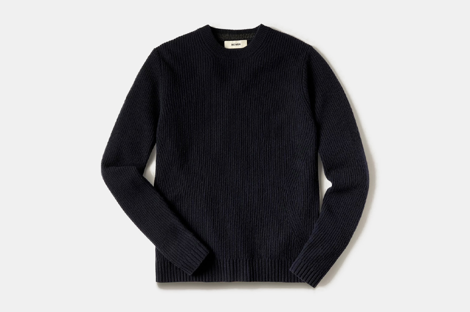 Buck Mason Five Gauge Fisherman Rib Sweater