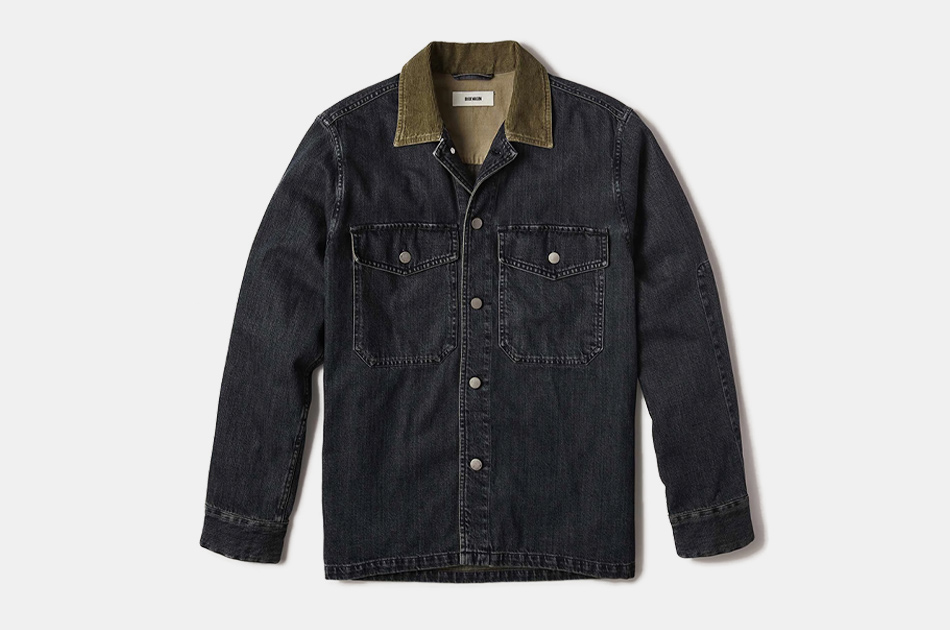 Buck Mason Medium Wash Two-Pocket Denim Field Shirt