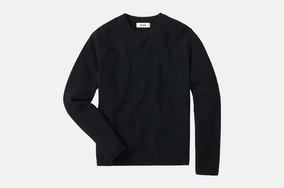 Buck Mason Rib Cotton Cashmere Seafarer Crew Sweater