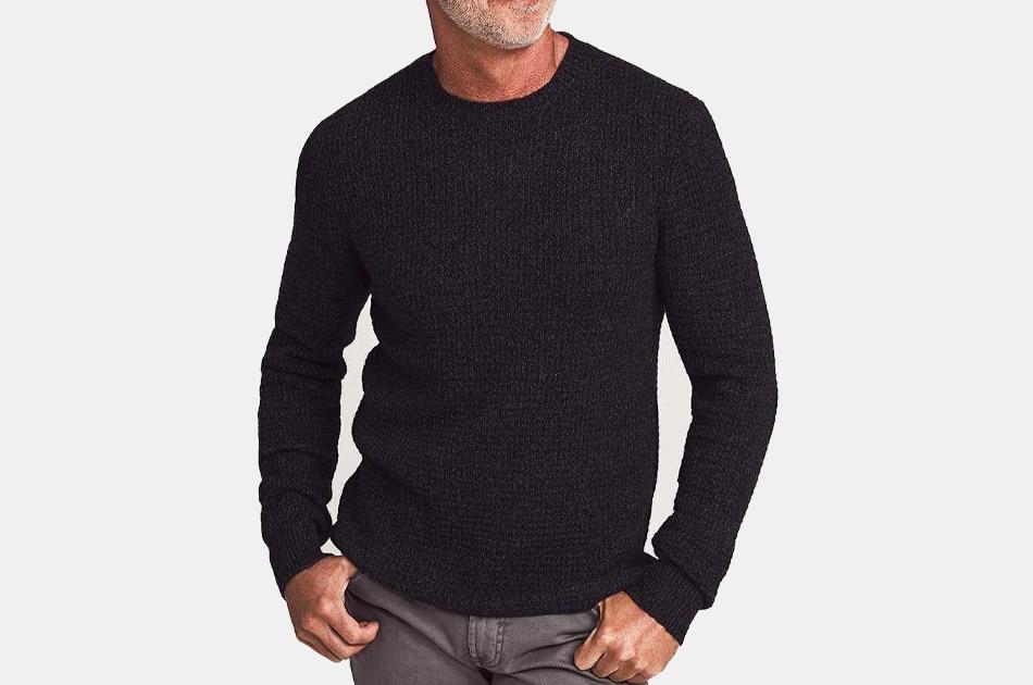 Faherty Cashmere Blend Crewneck Sweater