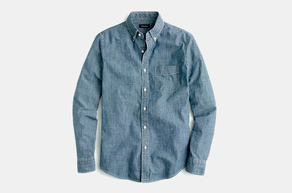 J. Crew One-Pocket Denim Shirt