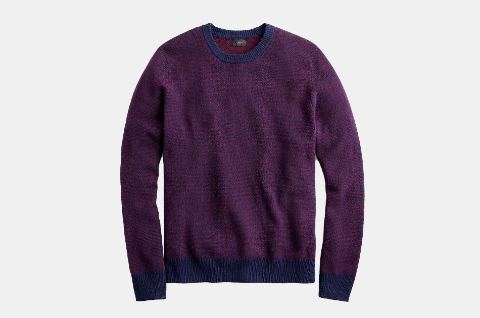 J.Crew Rugged Merino Birdseye Crewneck Sweater