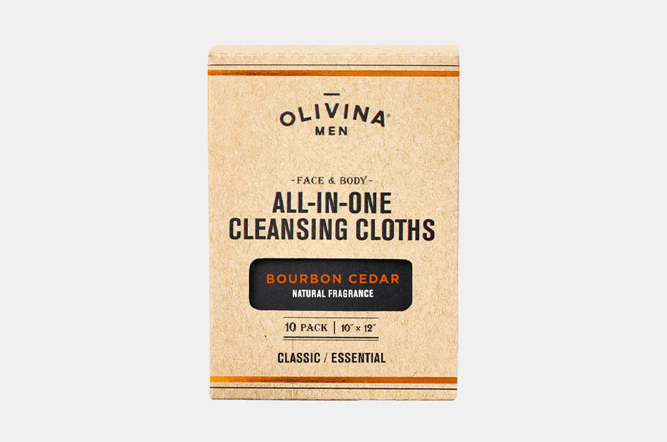 Olivina Men All-in-One Cleansing Cloths