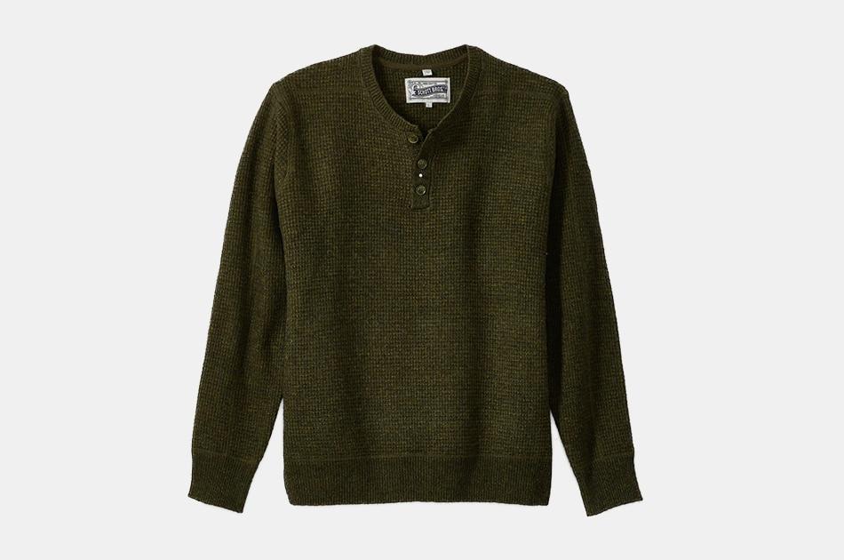 Schott Button Henley Sweater