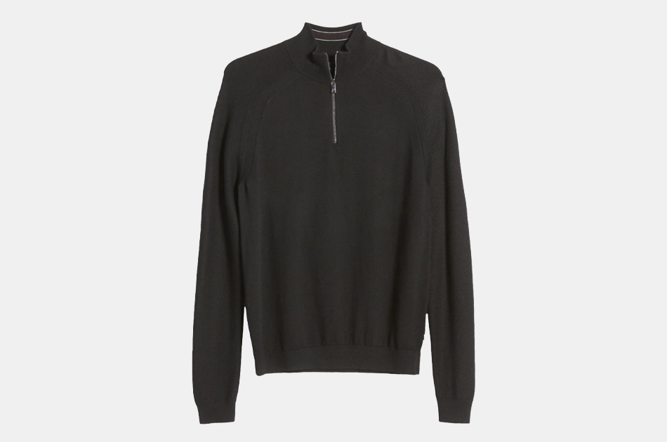 Ted Baker London Lostit Slim Fit Quarter Zip Sweater
