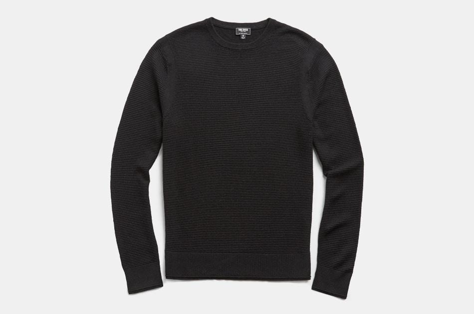 Todd Snyder Italian Merino Waffle Crewneck Sweater