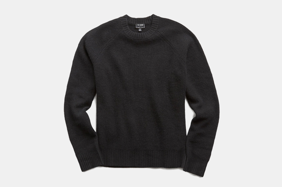 Todd Snyder Italian Ribbed Raglan Crewneck Sweater