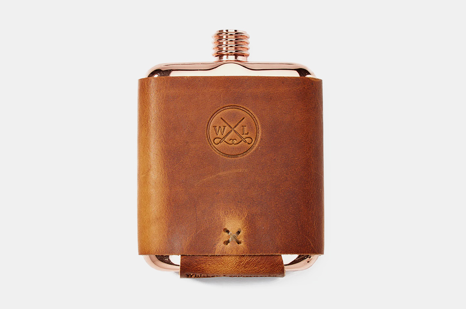 Whiskey Leatherworks Clark Fork Copper Flask