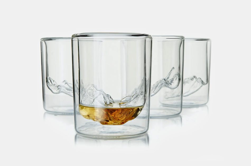 Whiskey Peaks Grand Tetons Whiskey Glasses