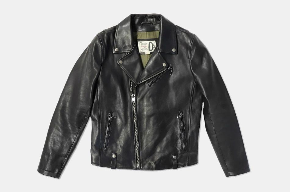 US Leather Mens Classic Vintage SlimFit Genuine Leather Jacket