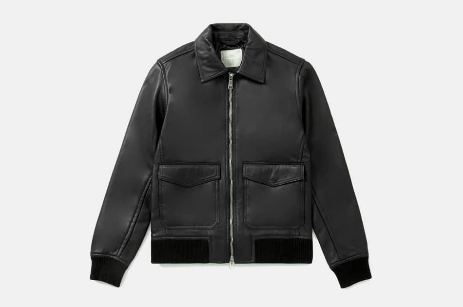 Everlane Leather Bomber Jacket