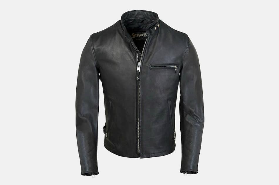 Schott 141 Cafe Racer Leather Jacket
