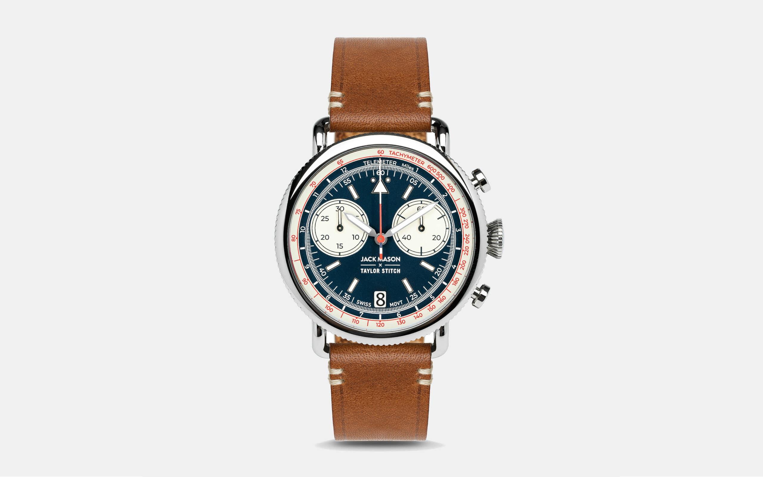 Jack Mason x Taylor Stitch Aviator Multi‑Scale Chronograph