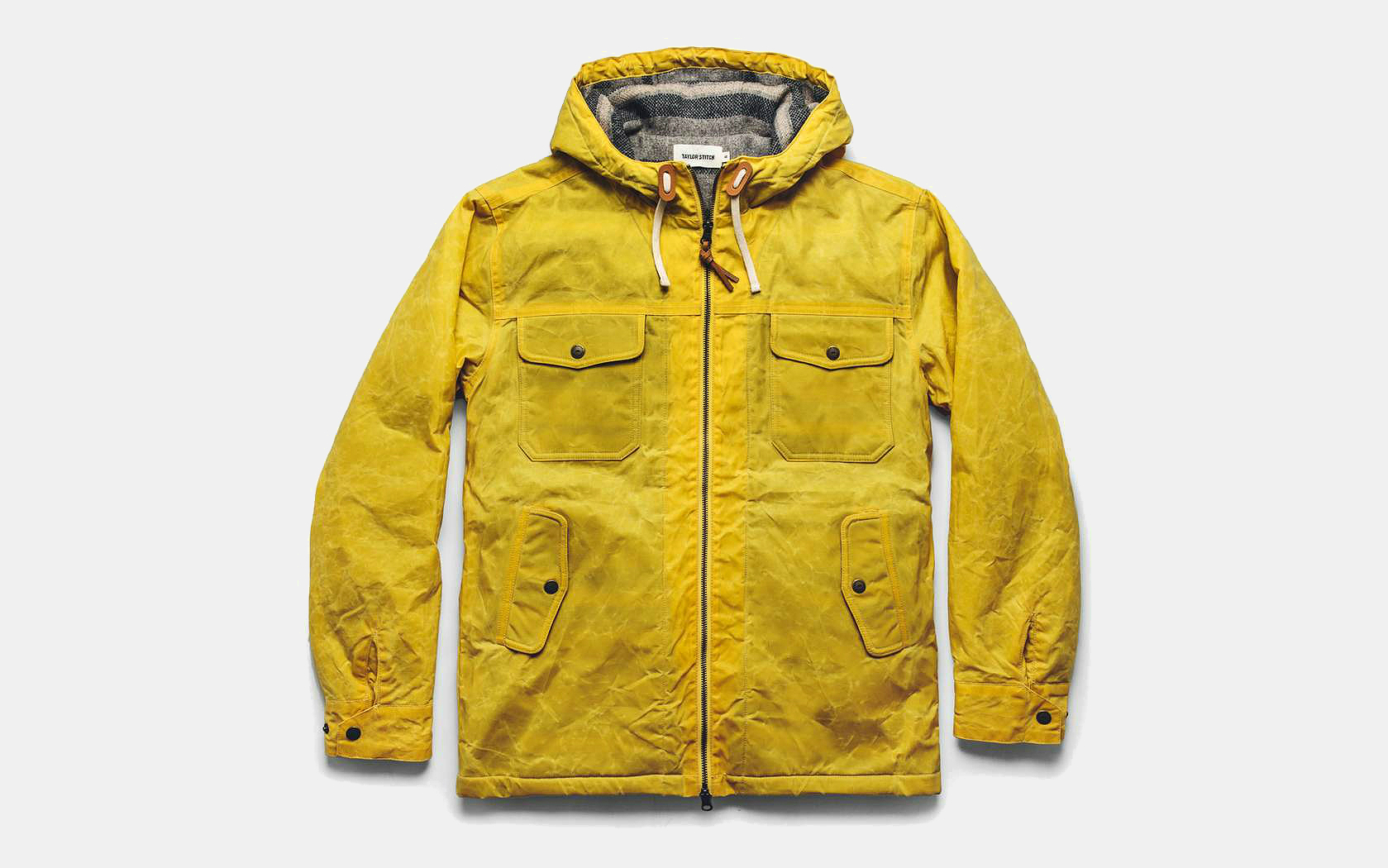 Taylor Stitch Winslow Parka in Mustard Waxed Canvas