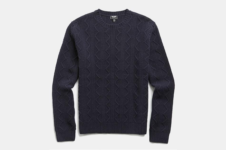 Todd Snyder Merino Cable Crewneck Sweater