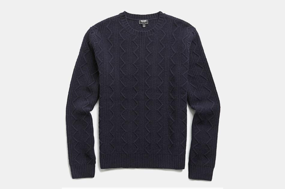 Todd Snyder Merino Cable Crew Sweater