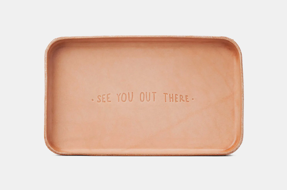"Billykirk ""See You Out There"" Leather Valet Tray"