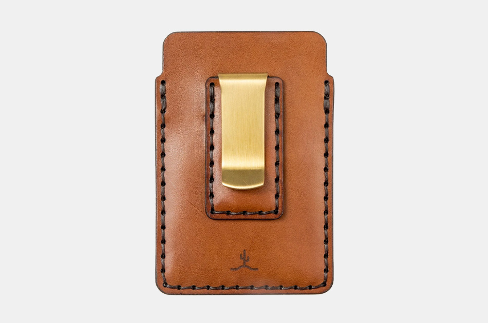 Bexar Goods Simple Card Wallet With Money Clip