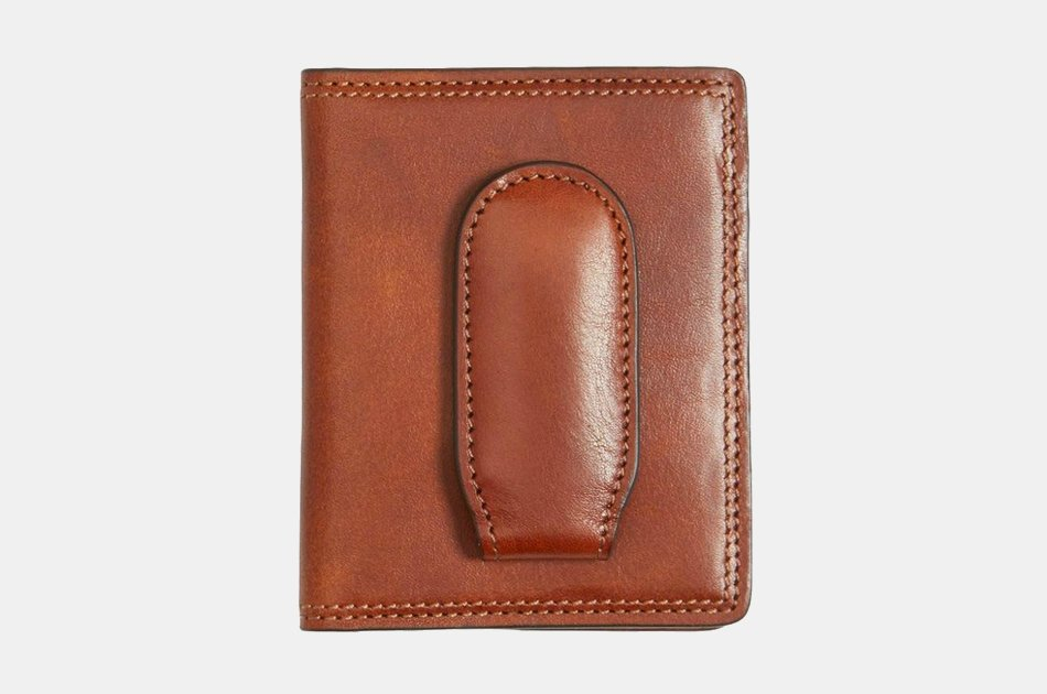 Bosca Leather Money Clip Wallet