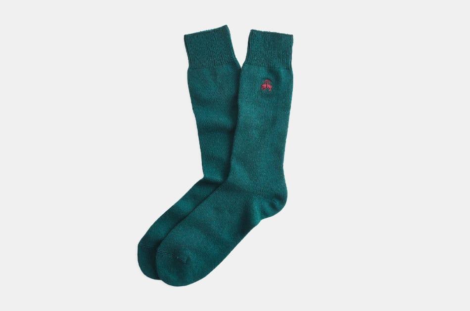Brooks Brothers Cashmere Crew Socks