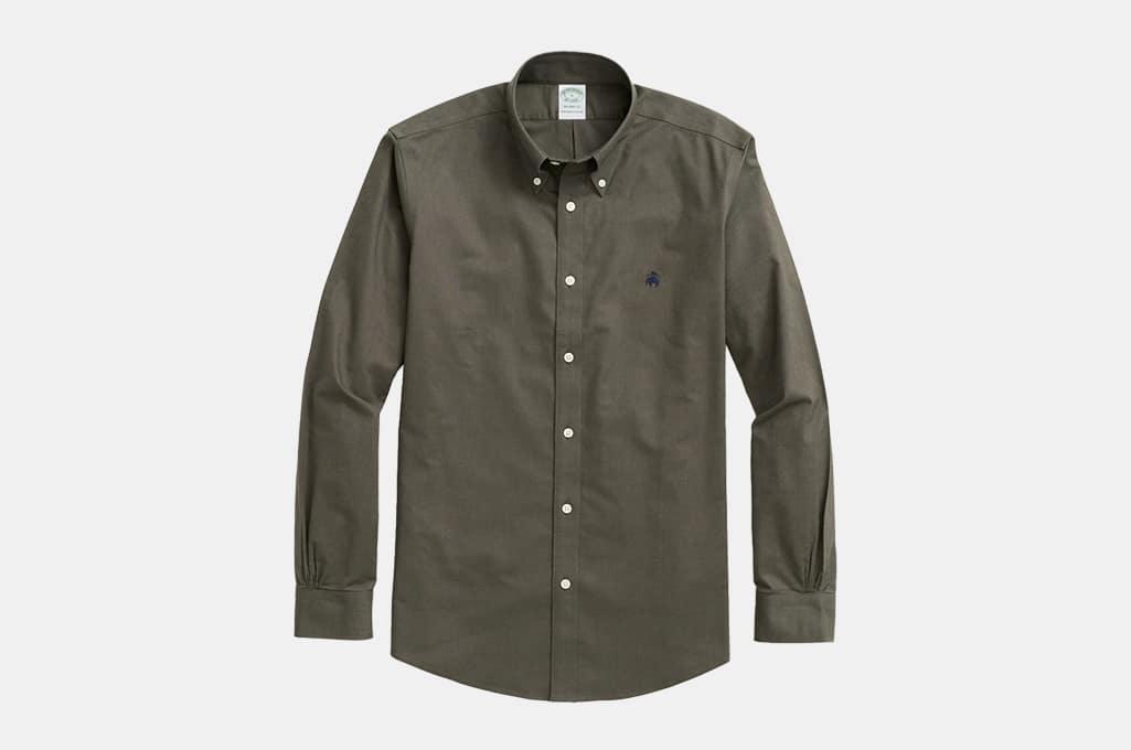 Brooks Brothers Stretch Milano Slim-Fit Sport Shirt