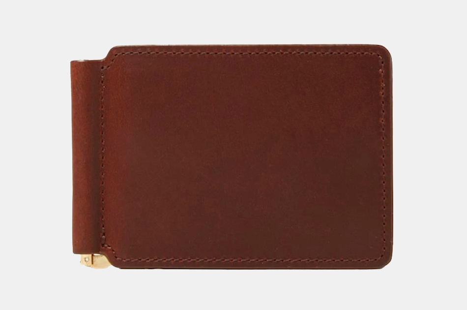 J.W. Hulme Money Clip Leather Wallet