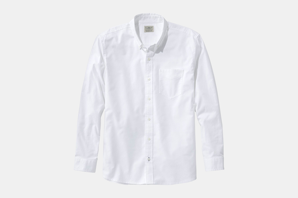 L.L. Bean Men's Comfort Stretch Oxford Shirt, Untucked Fit
