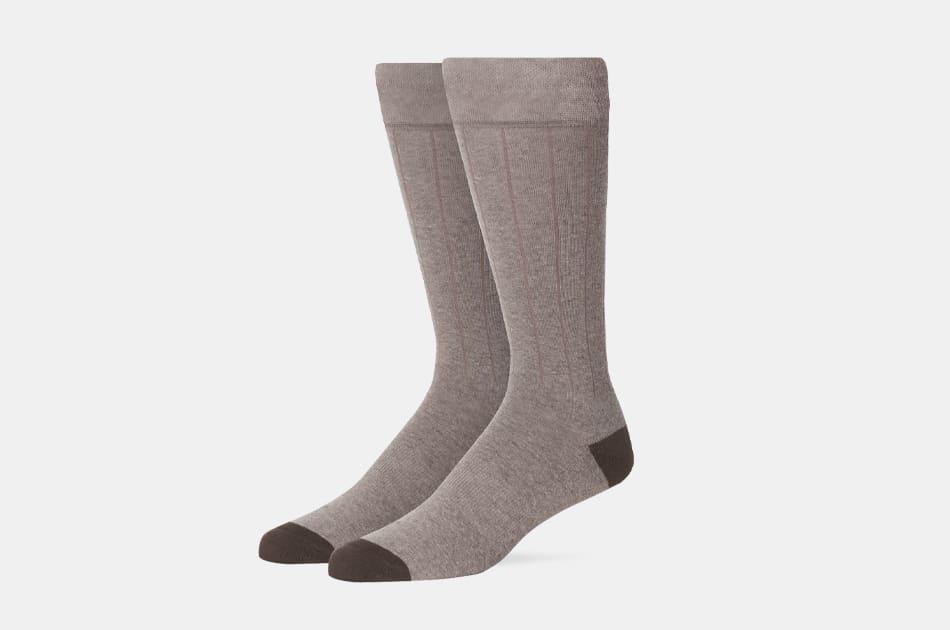 Mack Weldon Silver Extended Crew Dress Socks