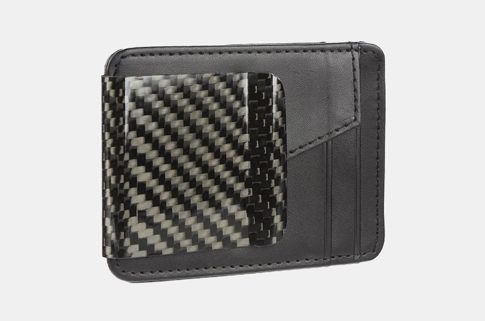 RC Fibers D15 Carbon Fiber Money Clip + Wallet