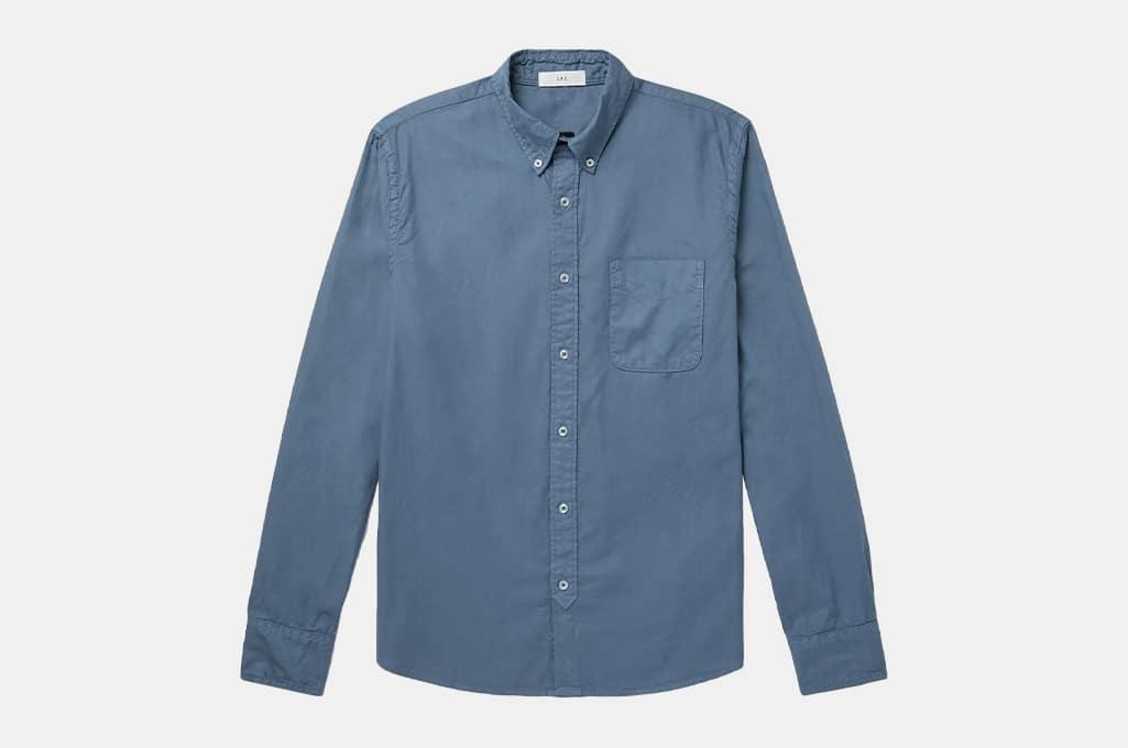 Save Khaki United Garment-Dyed Button-Down Collar Cotton Oxford Shirt