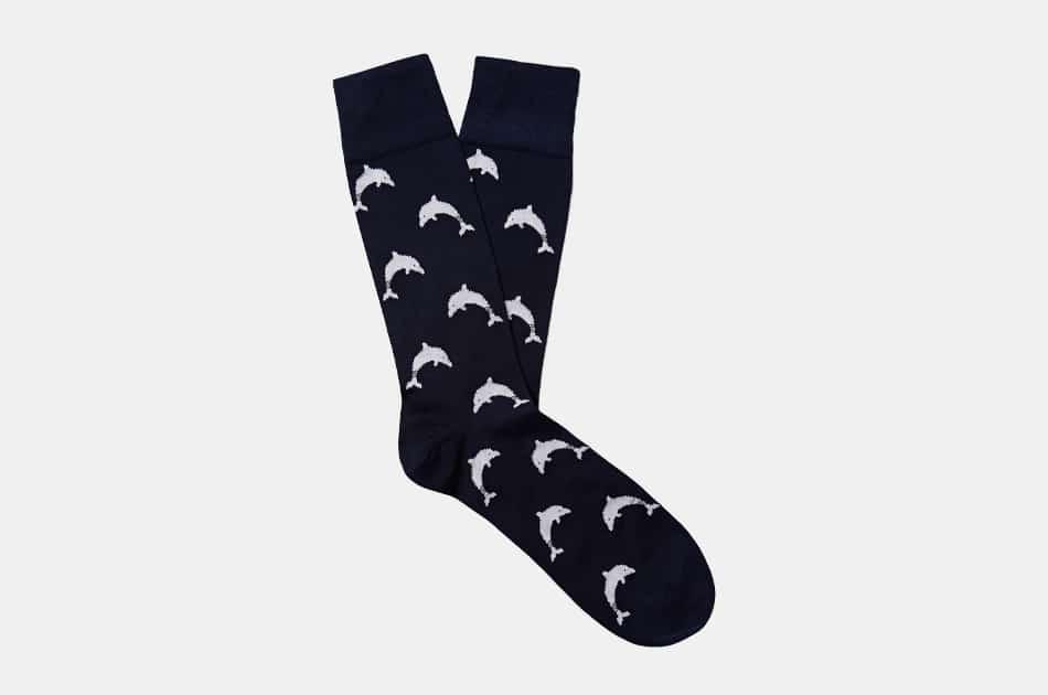 Thom Browne Cotton-Jacquard Socks