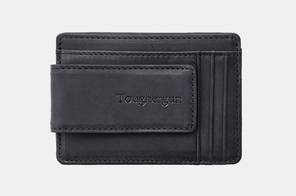 Toughergun Leather Money Clip Wallet