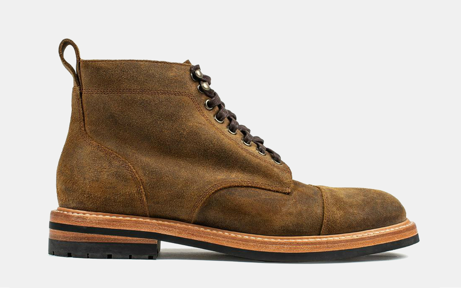 Taylor Stitch x Stetson Moto Boots in Waxed Suede
