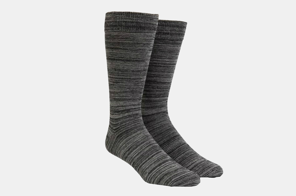 The Tie Bar Charcoal Dress Socks