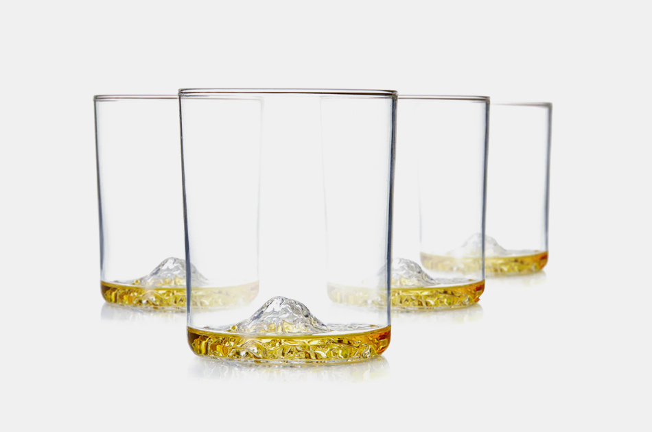 Whiskey Peaks American Mountains Glasses