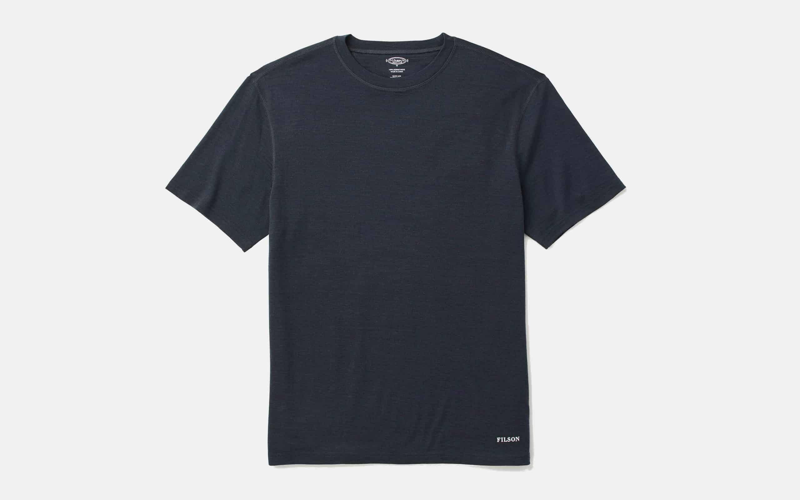 Filson 210g Merino Wool Short Sleeve Crew Shirt