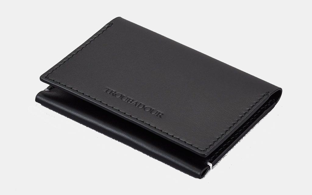troubadour flip card wallet