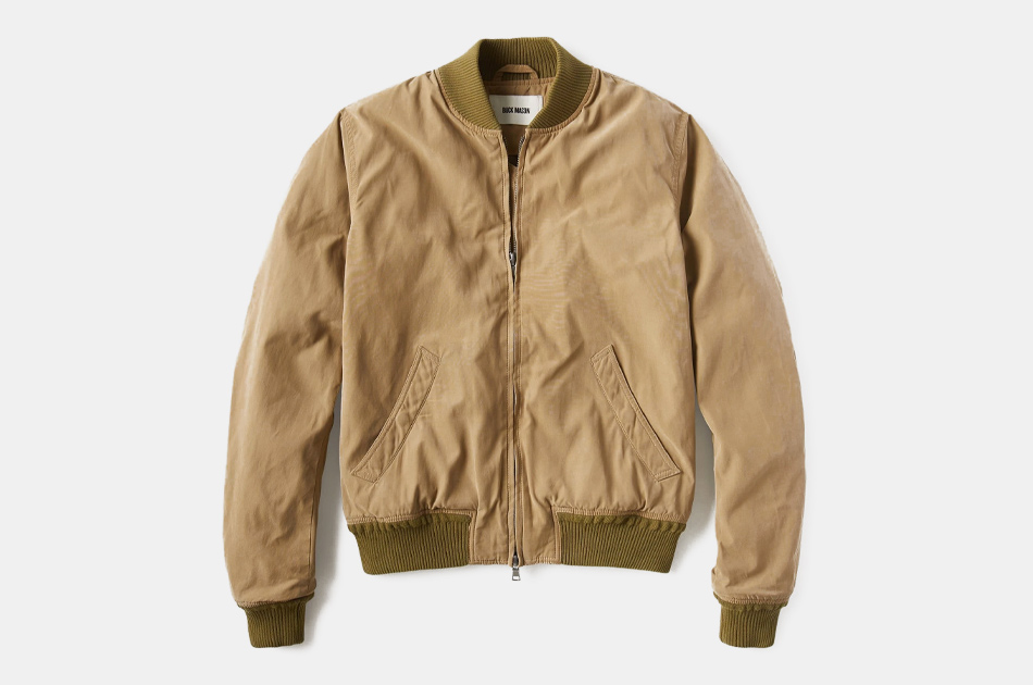 Buck Mason Oil Cloth Bomber Jacket