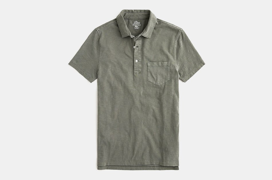 J.Crew Garment-Dyed Slub Cotton Polo Shirt