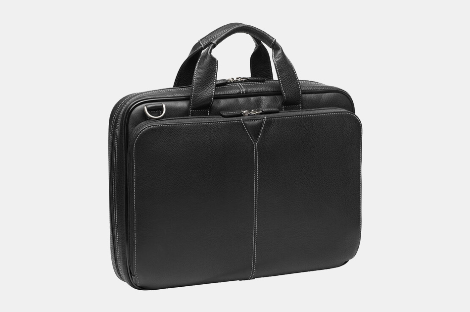 Johnston & Murphy Leather Laptop Briefcase